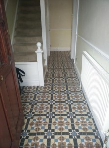 Hallway - After tiling
